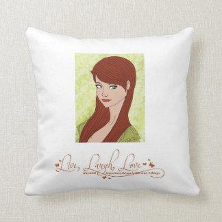Almofada Vive o travesseiro vermelho do amor do riso