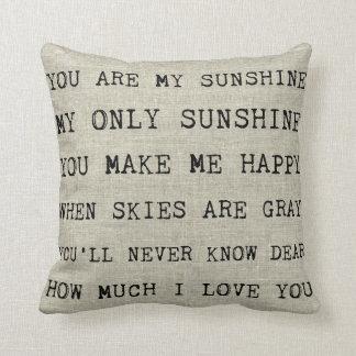 Almofada VOCÊ É MEU travesseiro decorativo da LUZ DO SOL |