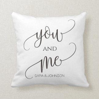 Almofada você e mim, presente de casamento personalizado