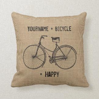 Almofada Você mais a bicicleta iguala o saco natural feliz