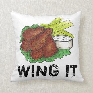 Almofada VOE-O travesseiro da comida das asas de galinha do