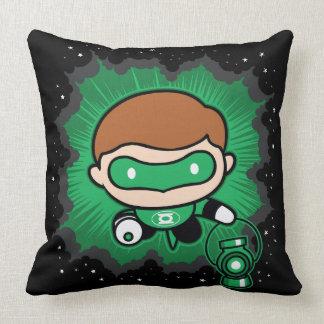 Almofada Vôo verde da lanterna de Chibi através do espaço