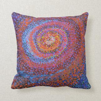 Almofada Vortex espiral - coxim abstrato