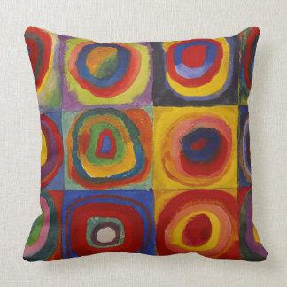 Almofada Wassily Kandinsky-Farbstudie Quadrate