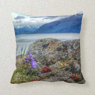 Almofada Wildflowers e travesseiro do Alasca do líquene