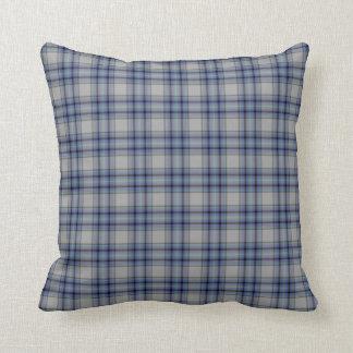 Almofada Xadrez de Tartan cinzenta roxa do Lilac azul do