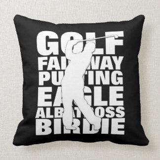 Almofada Xadrez de Tartan temático do golfe