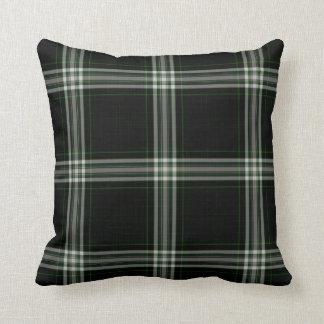 Almofada Xadrez de Tartan verde branca preta