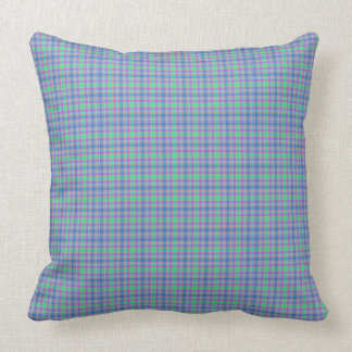 Almofada Xadrez listrada roxa do verde azul da hortelã