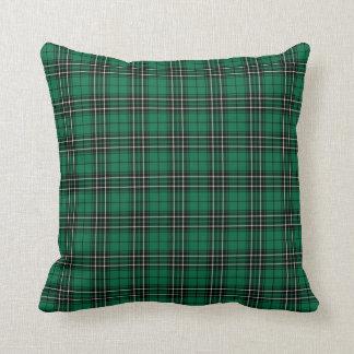 Almofada Xadrez verde-clara do Tartan da caça de MacLean do