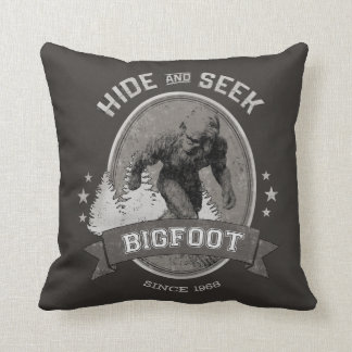 Almofada Yeti de Bigfoot. Sasquatch. Retro, Vintage.