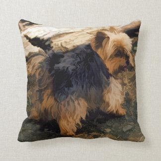 Almofada Yorkie pequeno bonito   - cão do yorkshire terrier