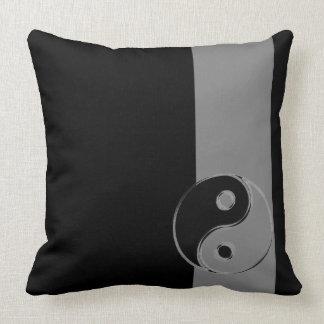 Almofadas tecido algodão Yin Yang Preto/Cinzentos