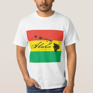 Aloha bandeira da reggae da ilha de Havaí T-shirt