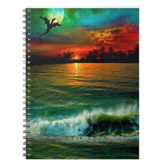 Aloha caderno do dragão dos deslocadores