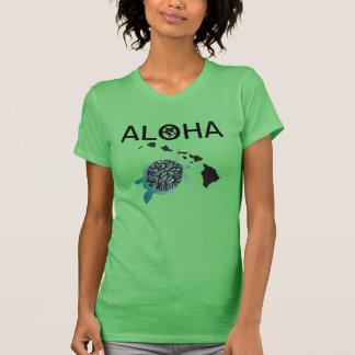Aloha camisa da tartaruga