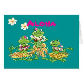 Aloha - cartão de aniversário