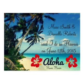 Aloha cartão do anúncio do casamento de Havaí