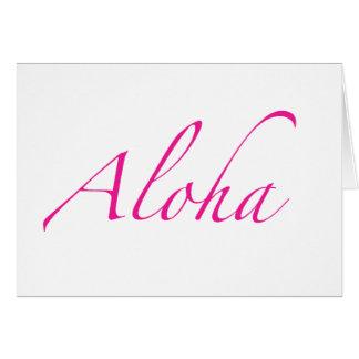Aloha cartões