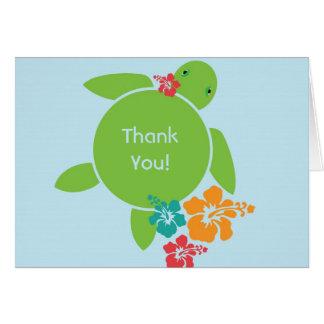 Aloha cartões de agradecimentos de Honu - azul
