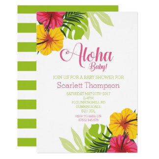 Aloha chá de fraldas, convite de Luau