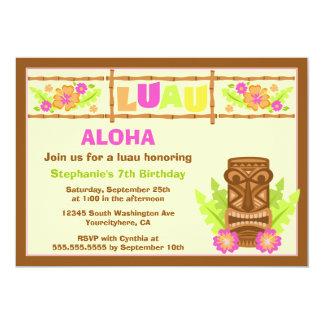 Aloha convite de aniversário bonito do hibiscus do