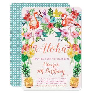 Aloha convite tropical do aniversário
