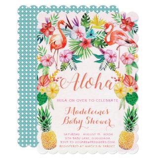 Aloha convite tropical do chá de fraldas