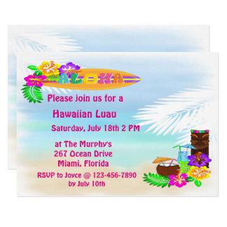 Aloha convites de Luau
