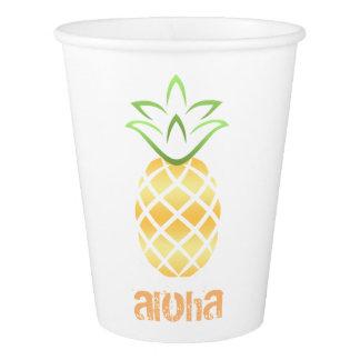 Aloha copos de papel do partido da praia de Luau
