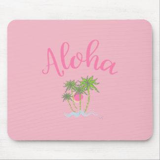 Aloha do verão havaiano do estilo das praias rosa mousepad