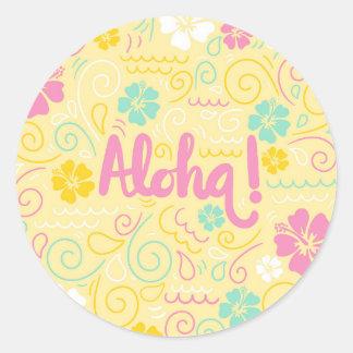 Aloha etiqueta havaiana bonito do verão