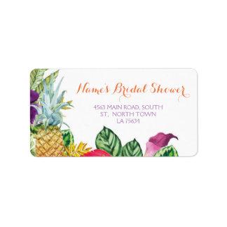 Aloha etiquetas de Luau das etiquetas de endereço