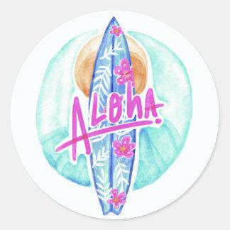 Aloha etiquetas do surfista de Havaí