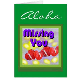 Aloha (faltando o) cartão