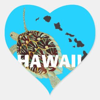 Aloha ilhas de Havaí Adesivos De Corações