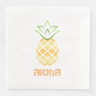 aloha luau dos guardanapo do cocktail do abacaxi
