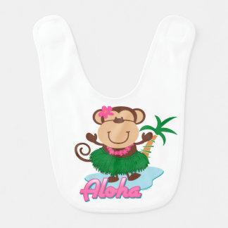 Aloha macaco babador de bebe