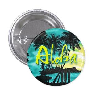Aloha Pin do por do sol do Aqua Bóton Redondo 2.54cm