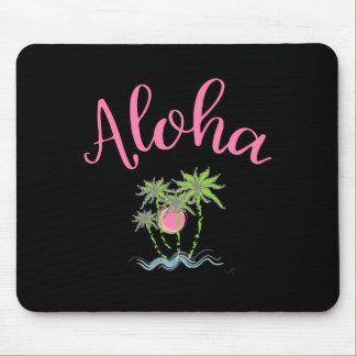 Aloha verão havaiano do estilo das praias tropical mousepad