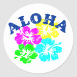 Aloha vintage adesivo redondo