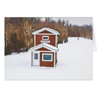 Alojamento do esqui do inverno cartão