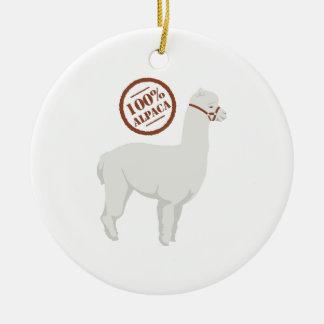 Alpaca 100% ornamento de cerâmica