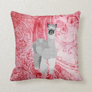 Alpaca Art Red  MoJo Pillow