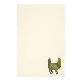 Alpaca do ouro & artigos de papelaria da coruja da