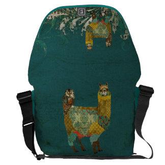 Alpaca do ouro & bolsa mensageiro da coruja da cer