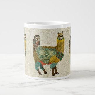 Alpaca do ouro & caneca da coruja da cerceta caneca de café muito grande