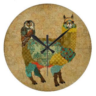 Alpaca do ouro & pulso de disparo de parede da cor relógios de pendurar