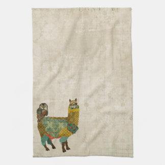 Alpaca do ouro & toalha da coruja da cerceta