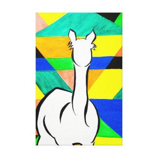 Alpaca Funky em canvas